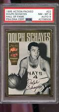 1994 1995 Action Packed Dolph Schayes AUTO Signed Autograph Card PSA 8 PSA/DNA 9