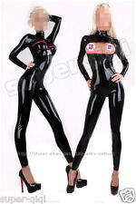 New 100% Latex Rubber Bodysuit Catsuit Overall Suit Leotard Unitard Zip Fashion