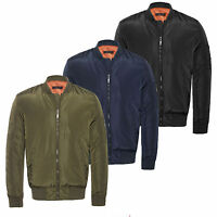 Mens Army MA1 Biker Bomber Military Fly Security Harrington Jacket Coat 5Pockets