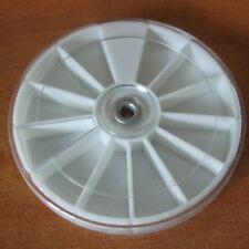 NEW 12 SLOT ROUND CONTAINER, WHEEL STORAGE BOX FOR BEADS & OTHER SMALL ITEMS  C1