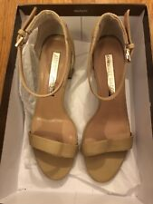 7dd5778718 Audrey Brooke nude strappy block heels leather 6.5