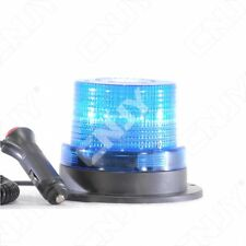 MINI GYROPHARE 60 LED BLEU-AIMANTE-FICHE ALLUME CIGARE-MODE ROTATIF & FLASH 12V