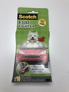 Scotch Fur Fighter Refill 10 Sheets New Pack Upholstery Pet Hair Fur Remover 3M