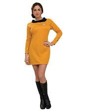 "Disfraz De Oro Para Mujer Original Star Trek, SML (usa 6-10), cintura busto 36-38"", 27-30"""