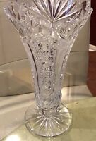 Large Stunning ABP Brilliant Period Cut Glass Vase