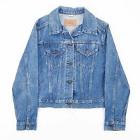 Vintage LEVI'S Made In USA Blue Casual Cropped Denim Jacket Women's Size Small