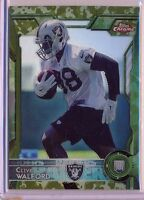 CLIVE WALFORD - 2015 Chrome Topps Rookie CAMO REFRACTOR /499 - Raiders RC