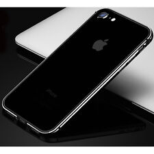 Hybrid Aluminum Metal Bumper+Soft Silicone Cases Covers for iPhone 7 6s Plus SE