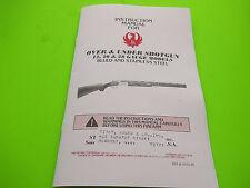 1995 RUGER OVER & UNDER SHOTGUN INSTRUCTION MANUAL for 12, 20 & 28 gauge models