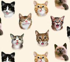 Elizabeth's Studio Selfies by Howard Robinson 1321 CRM Cream Cat Selfie Cotton
