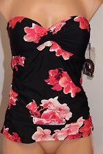 NWT Calvin Klein Swimsuit Bikini Tankini Top Sz S UPF 50+  Shoulder straps wmn
