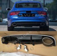 RS7 diffusor + Endrohre Audi A7 4G Stoßstange Heckschürze hinten Diffuser RS 7