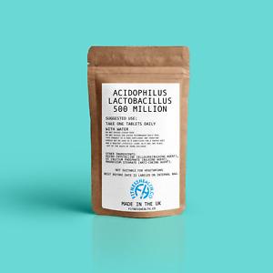 Probiotic Lactobacillus Acidophilus - 60 Tablets 500 Million Live Cultures Vegan