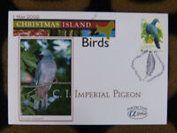 SCARCE ALPHA FIRST DAY COVER - 2002 CHRISTMAS ISLAND BIRDS. IMPERIAL PIDGEON