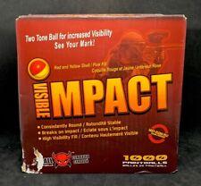 Xball 1000ct Painballs Visible Impact Red & Yellow Shell/ Pink Fill