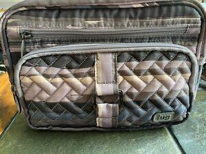 LUG Carousel Purple Print Polyester Convertible Crossbody/Belt Bag RFID