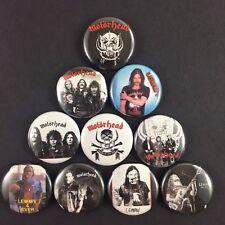 """Motorhead 1"""" Button Pin Set Lemmy Heavy Metal Punk Rock N Roll Legend"""