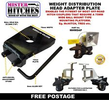 WEIGHT DISTRIBUTION HITCH ADAPTER PLATE  FOR McHITCH TREG TRIGG TYPE COUPLINGS