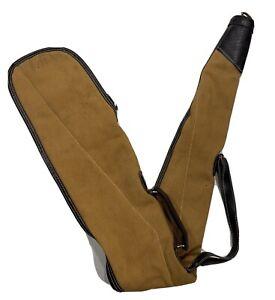 Vintage Canvas/LeatherGun Case Kolpin Rifle Padded Sling Handle Brown Tan