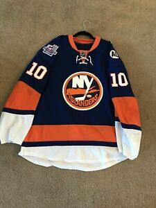 Alan Quine 2015-16 Game Used Worn NY Islanders PLAYOFF Jersey - 2 Patches - LOA