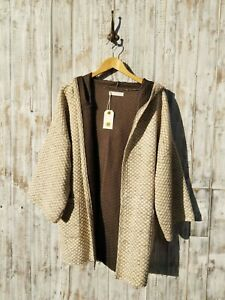Nil. Hooded Open Front Cardigan - S / Was Selling At Anthropologie