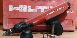 HILTI DX 36 M Semi-Automatic Powder Actuated Fastening Tool + Case - Accessories