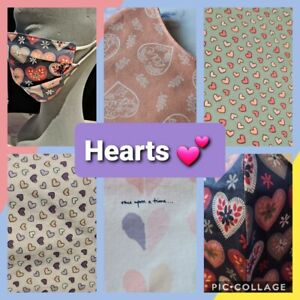 THE HEARTS COLLECTION - Hand Made Reusable Cotton Face Mask/Face Covering
