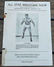 FEBRUARY 27, 1935 ALL STAR WRESTLING SHOW PROGRAM-BOSTON ARENA-LEO NUMA-RARE!