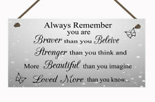Stronger Inspirational Hanging Plaque Friendship Gifts Quote Butterfly Love Sign