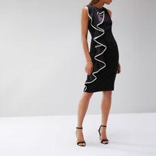 Coast Marissa Black Ruffle Shift Dress UK Size 10