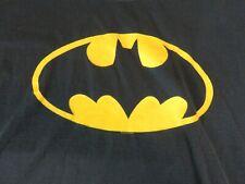 Classic Batman Logo Tee Black T-Shirt Yellow Logo Size Xl