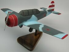 Yak-52 Yakovlev Soviet Yak52 Trainer Airplane Mahogany Kiln Wood Model Large New
