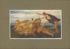 "original 1902 colour print  ""  phoebus apollo "" by briton riviere"