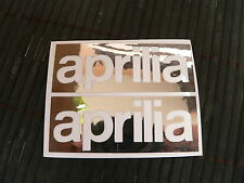 OFFERTA kit 2 adesivi Aprilia moto decal sticker rsv rs 125 250 sxv rs4 v4 2t 4t