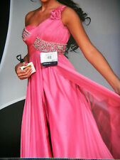 MAC DUGGAL ONE OF A KIND SZ 2- 4 PINK PAGEANT PROM GOWN RHINESTONE ONE SHOULDER