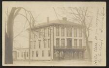 REAL PHOTO Postcard CALUMET Ohio/OH  Large 3 Story Business Storefront 1906