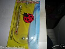 "Wall Thermometer 3 1/2"" X 8"" indoor / outdoor wall Thermometer F & C Lady Bug"