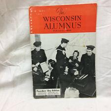 Vintage 1943 Booklet The Wisconsin Alumnus University