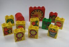 LEGO DUPLO 12 imprimé pierres Assortiment Multicolore montre en mouvement mains