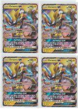 4x LOT Pokemon Sun & Moon LOST THUNDER Gx Foil Rare ZERAORA 86/214 ;D