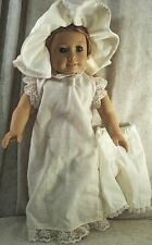"""Doll Clothes Made 2 Fit American Girl 18"""" in Felicity Chemise Bloomers Cap Ivory"""