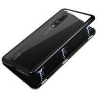 SDTEK Magnetic Case for Huawei P30 Lite Glass Back Cover