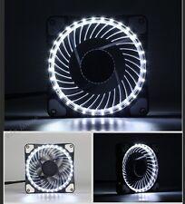 12CM 120MM White LED fan DC 12V 42CFM Quiet for PC Computer Case Cooler Cooling