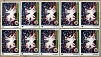 Jim Abbott 1989 Upper Deck #755 Rookie RC 10ct Card Lot