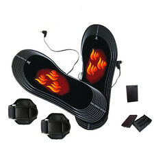 1Pair Battery Heated Shoe Insoles Foot Warmer Electric Heater Feet Boots 38-46