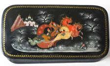 Russian Art Mstera Mstyora Lacquer Miniature Box M112