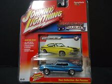 Johnny Lightning Buick GSX 1971 Bleu 1/64 Jlmc001b