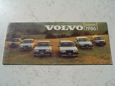 Catalogue publicitaire Gamme Volvo 1986 340 360 240 740 760 20 pages Brochure