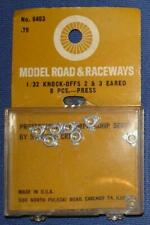 STROMBECKER 1/32 SCALE SLOTCAR ROAD RACING SPARE PARTS 2 & 3 EARED KNOCK OFFS
