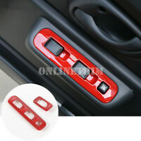 Red Car Door Armrest Window Switch Trim Cover 2pcs For Suzuki Jimny 2007-2017